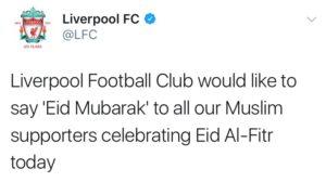 Tim Sepak Bola Asal Inggris Ucapkan: 'Selamat Hari Raya Idul Fitri' 1