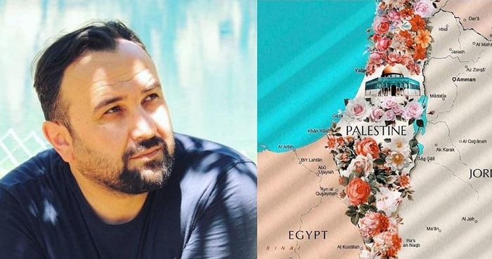 Seniman Turki Gambar Peta Palestina Berhias Bunga, Begini Respons Dunia